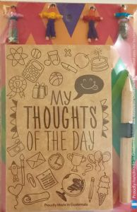 """My Thoughts of the Days"" Guatemalan Worry Doll Notepad & Pencil"